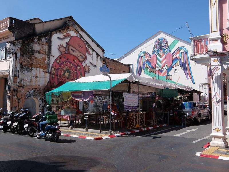 Пхукет-Таун - Кафе между граффити