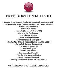 Free BOM Updates III