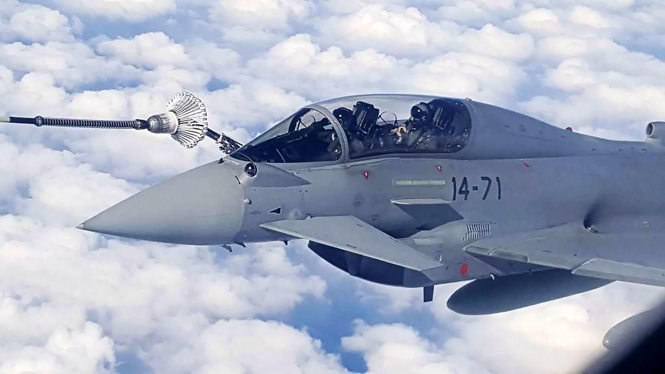 Cabina de Eurofigther en vuelo