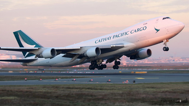 Boeing 747 -467ERF CATHAY PACIFIC CARGO B-LIB 36867 Francfort décembre 2019