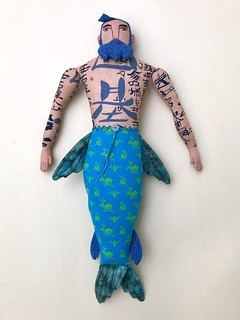 Merman with Vintage Laura Ashley tail | by Mimi K
