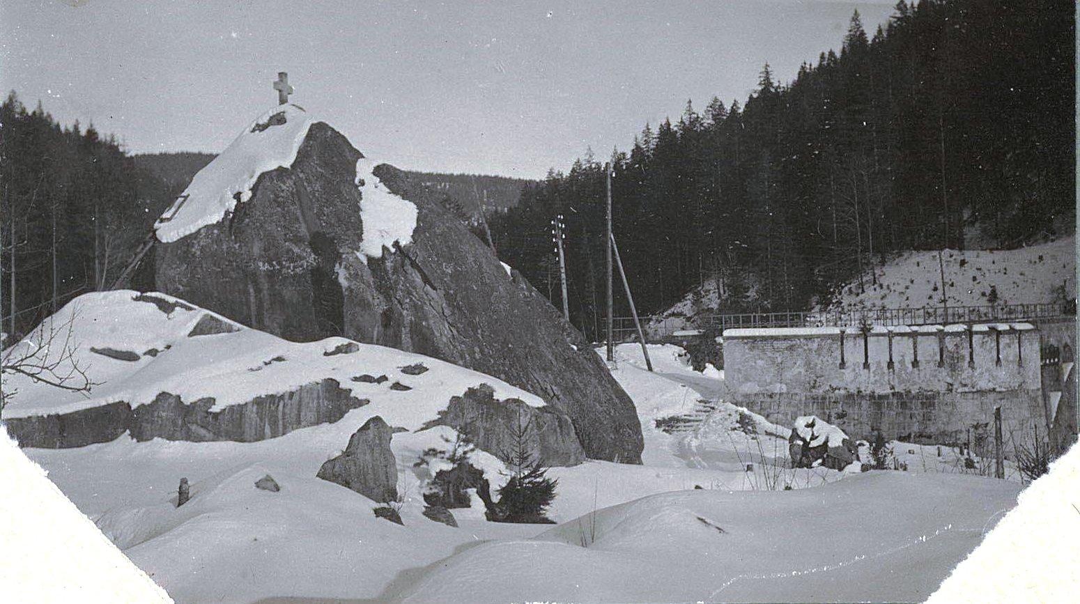 1915. Тоннель по дороге Яремче-Микуличин
