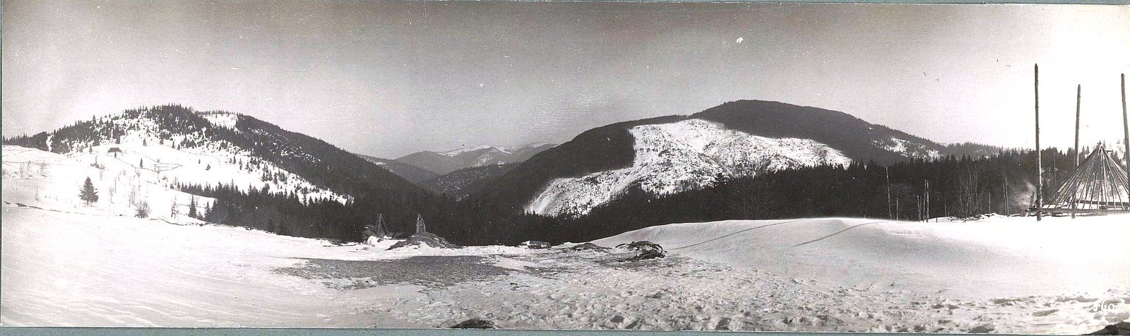 1915. Вид на Галицийские горы