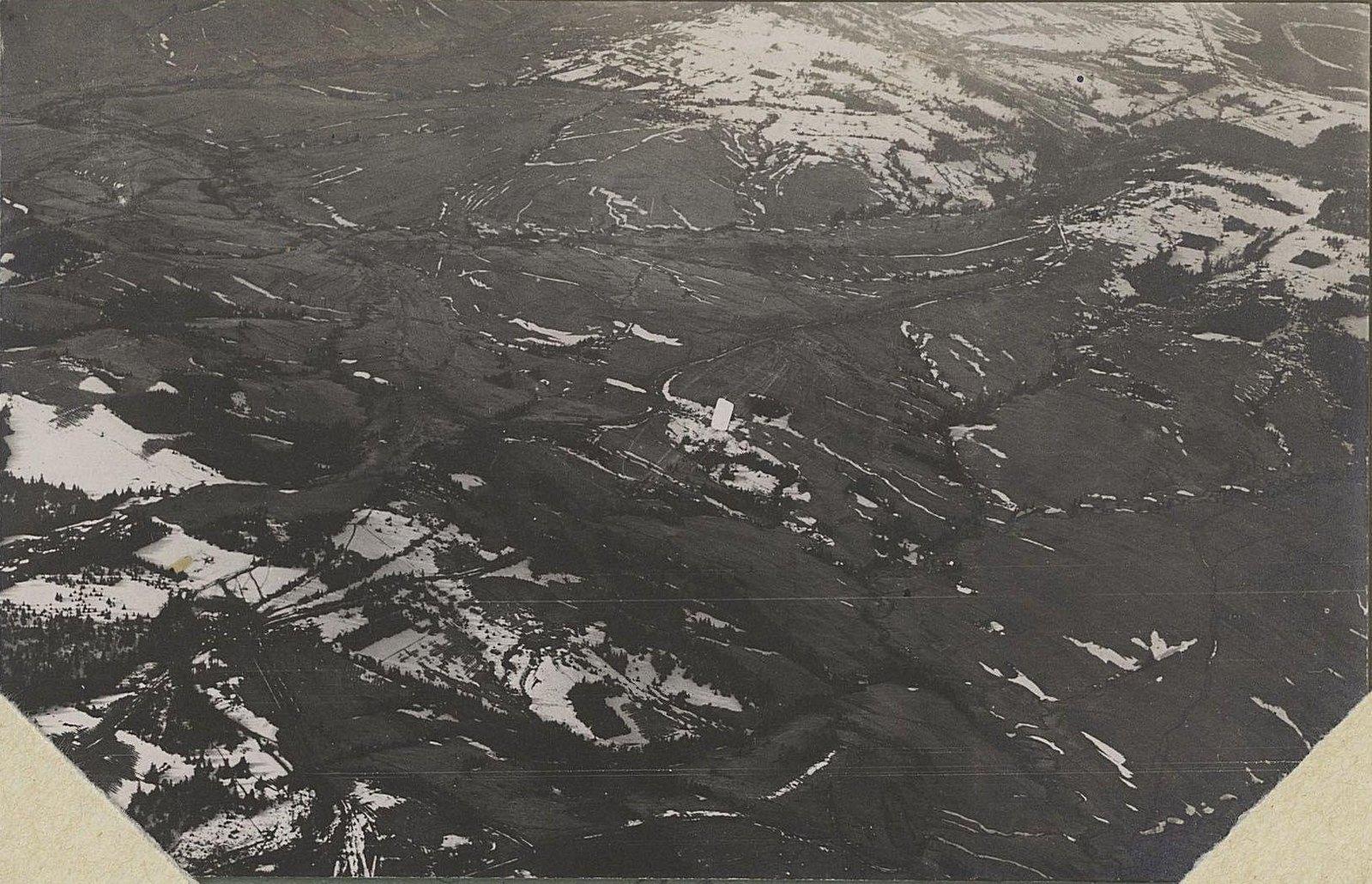 1915. Австрийские окопы. Снято с аэроплана зимой