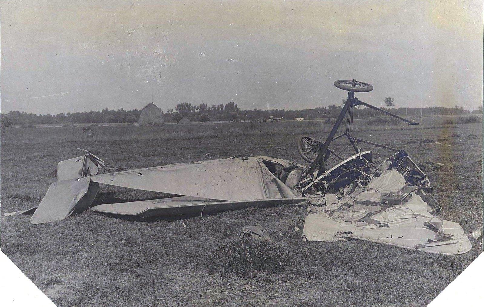 1914. Оболочка «Морана», на котором погиб П.Нестеров