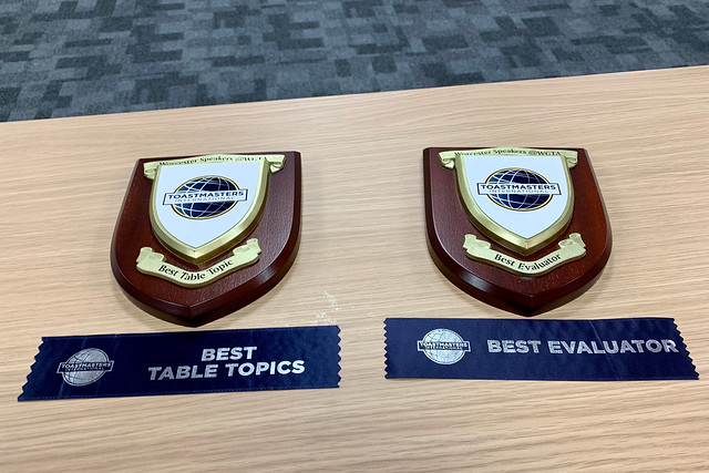 A successful Toastmasters evening!