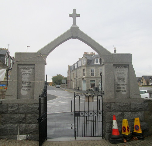 Reverse of War Memorial, Kintore