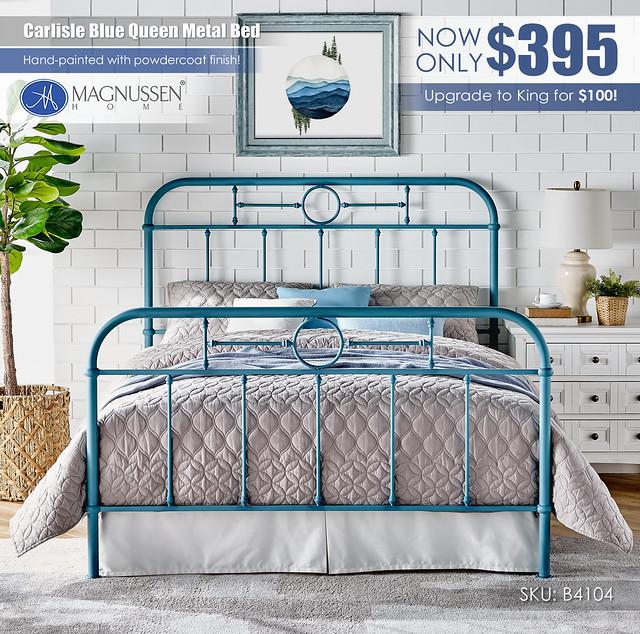 Carlisle Blue Queen Metal Bed_B4104_Updated