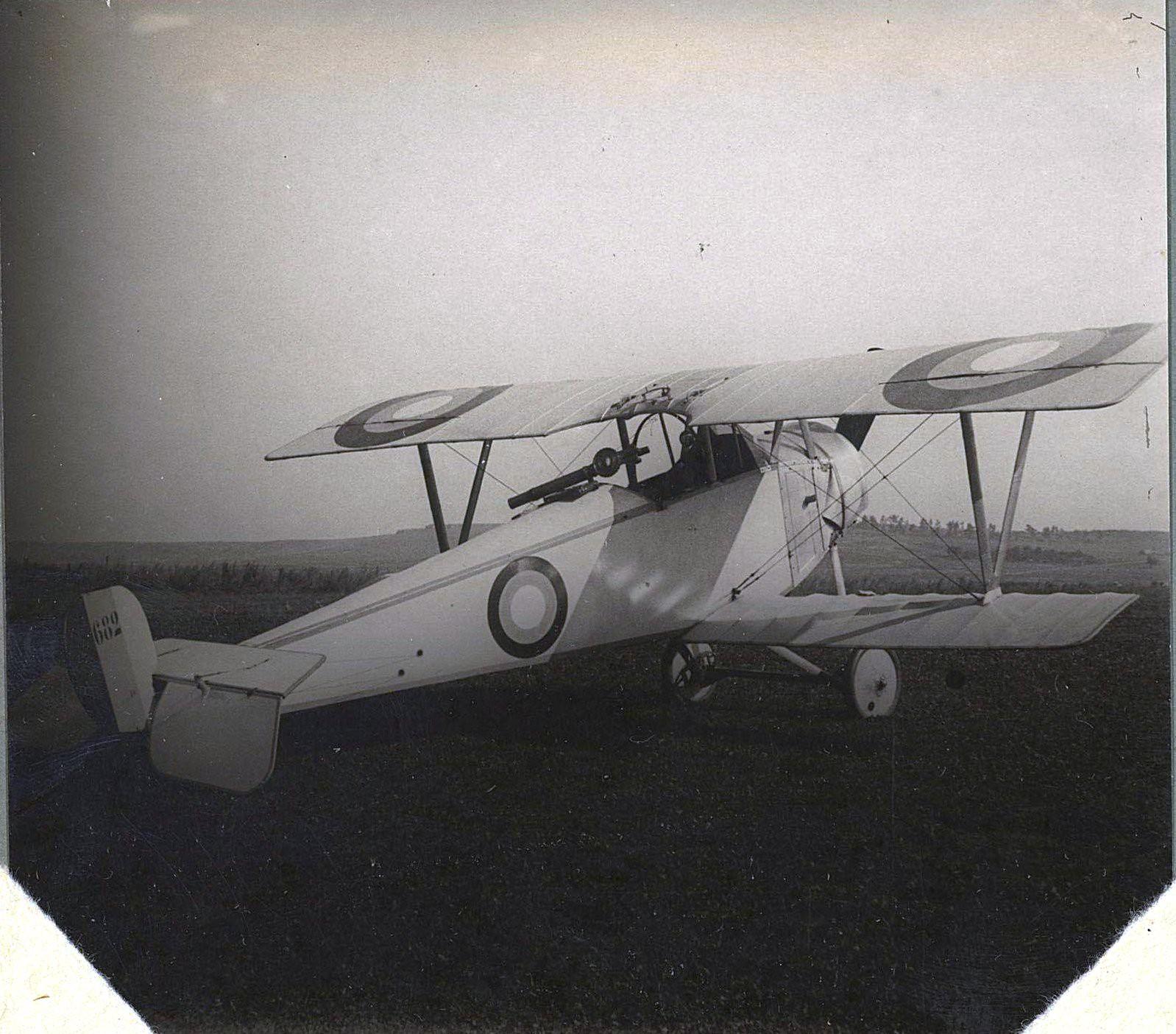 1915. Истребитель «Ньют» № 682 на лугу