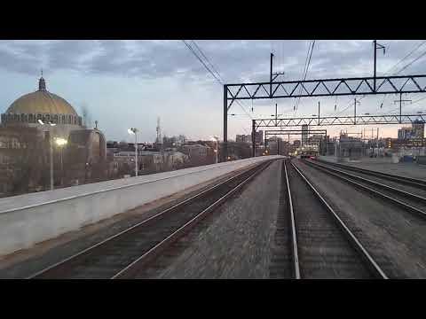 Hyperlapse SEPTA Chestnut Hill East outbound from Jefferson Station - YouTube
