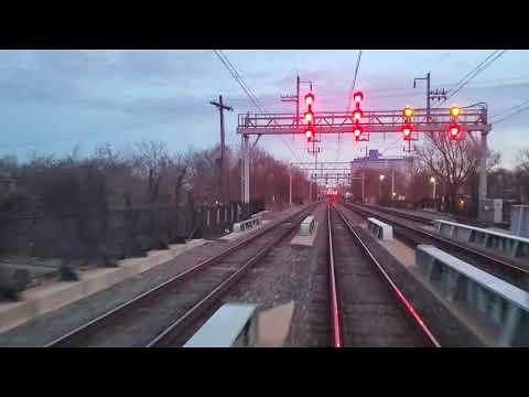 SEPTA Chestnut Hill East outbound from Temple University Station - YouTube
