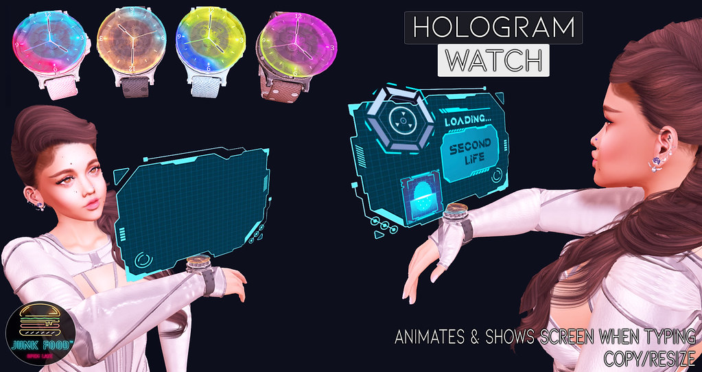 Junk Food - Hologram Watch Ad