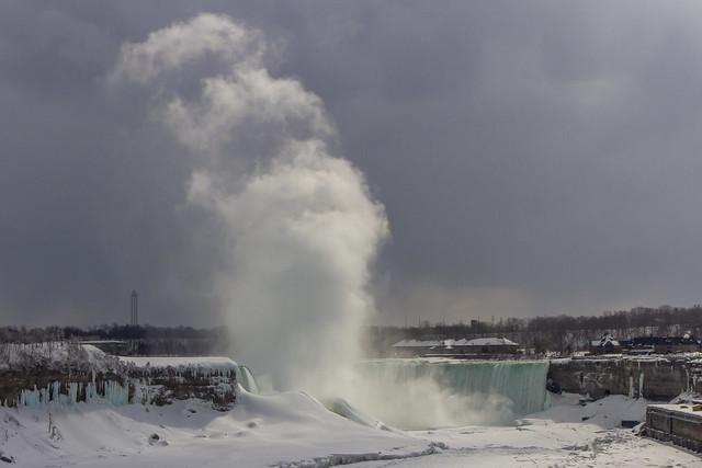 Icy plume - Niagara