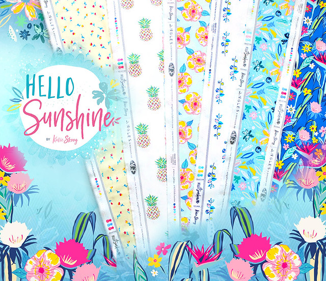 Art Gallery Fabrics Hello Sunshine Collection by Katie Skoog