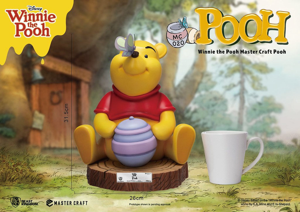 是那隻貪吃蜂蜜的熊! 野獸國 Master Craft 系列《小熊維尼歷險記》小熊維尼 Winnie the Pooh MC-020 場景雕像