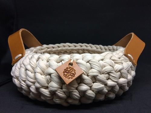 vannerie de coton corbeille beige