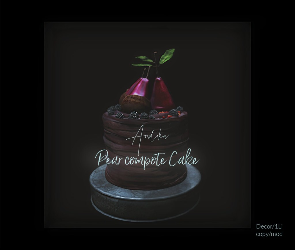 cyber Fair  Exclusive//andika[ Pear compote Cake]