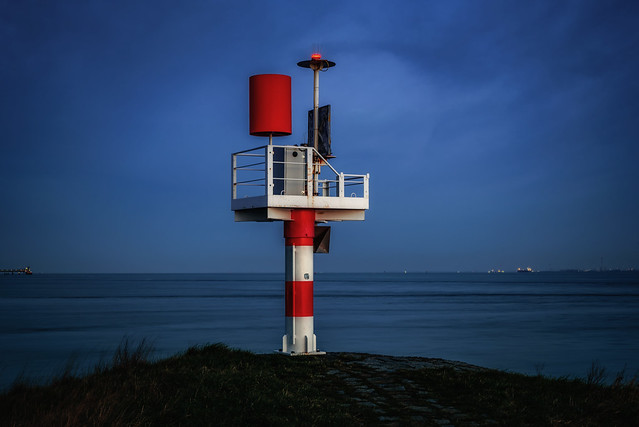 A habour light beacon