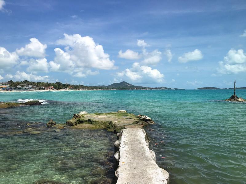 コサムイ チャウエンビーチ南端 Chaweng Beach Koh samui