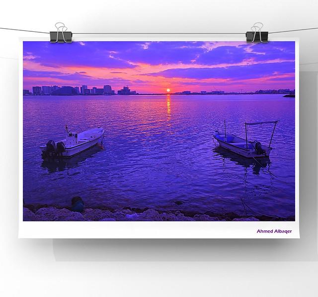 The Beauty of Sunrise Colors شــروق الصباح حيث تتجلى فيه جمال الألــوان