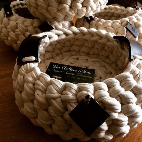vannerie de coton corbeilles ecrues