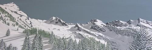 Montagne Aravis N°911162 120x40