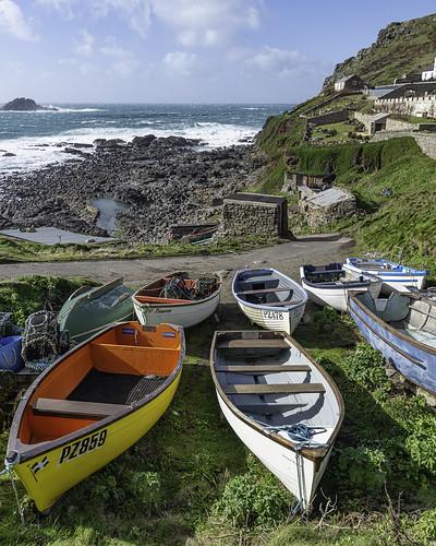 capecornwall coast cornwall fishingboats priestscove sea coastline