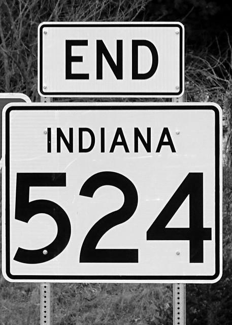 IN, Lagro-U.S. 24 End IN 524 Sign