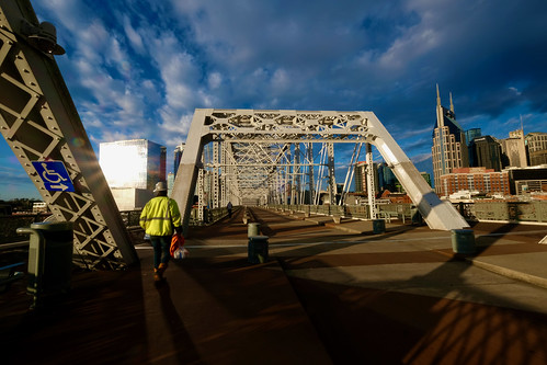 morning sunrise nashville tn tennessee nashvilletn bridge skyline truss steel street streetphotography fuji fujifilm fujifilmxt2 fujixt2 fujinon 1024mm wideangle wide cumberlandriver cumberland usa america bluesky constructionworker construction xf1024mmf4rois fujixf1024mmf4rois fujifilmxf1024mmf4rois fujinonxf1024mmf4rois