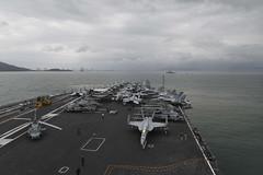 USS Theodore Roosevelt (CVN 71) and USS Bunker Hill (CG 52) arrive in Da Nang, March 5. (U.S. Navy/MCSN Dylan Lavin)