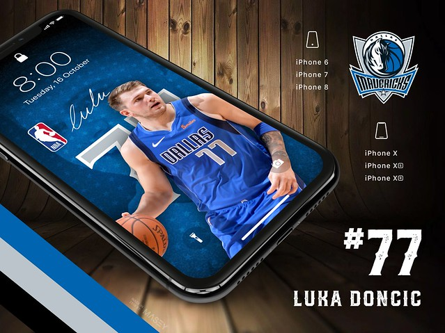 Luka Doncic (Dallas Mavericks) iPhone Wallpaper