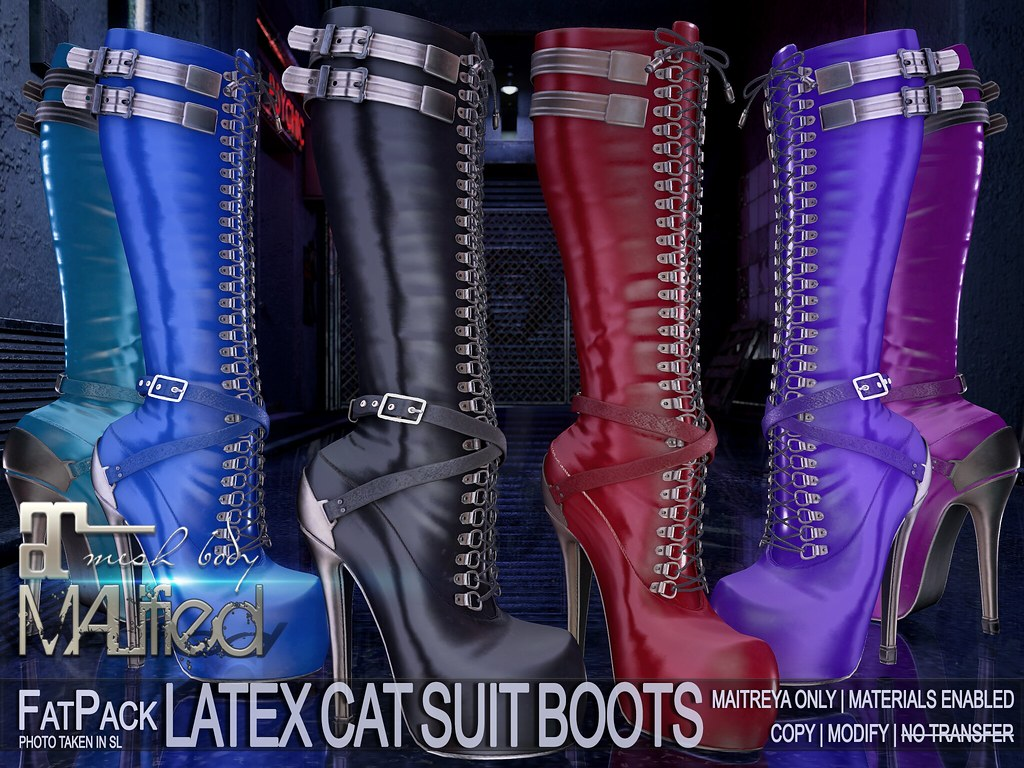 MALified – Latex Cat Suit Boots – FatPack