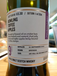 SMWS 113.30 - Bowling toffee apples