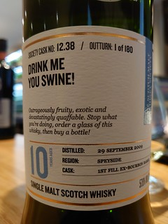 SMWS 12.38 - Drink me you swine!