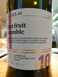 SMWS 112.41 - Tart fruit crumble