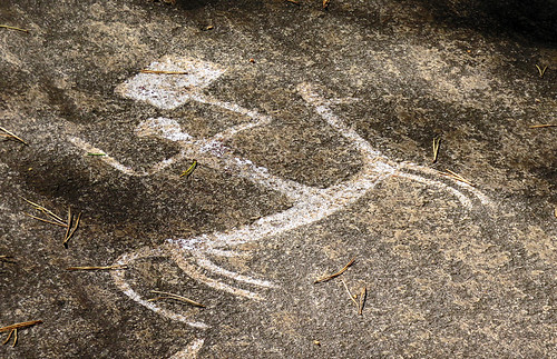 A petroglyph of a pony express mail system back 3500 years ago?