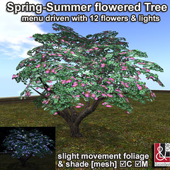 Spring-Summer lighting Flowered Tree