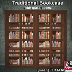 Traditional Bookcase with glass doors PIC