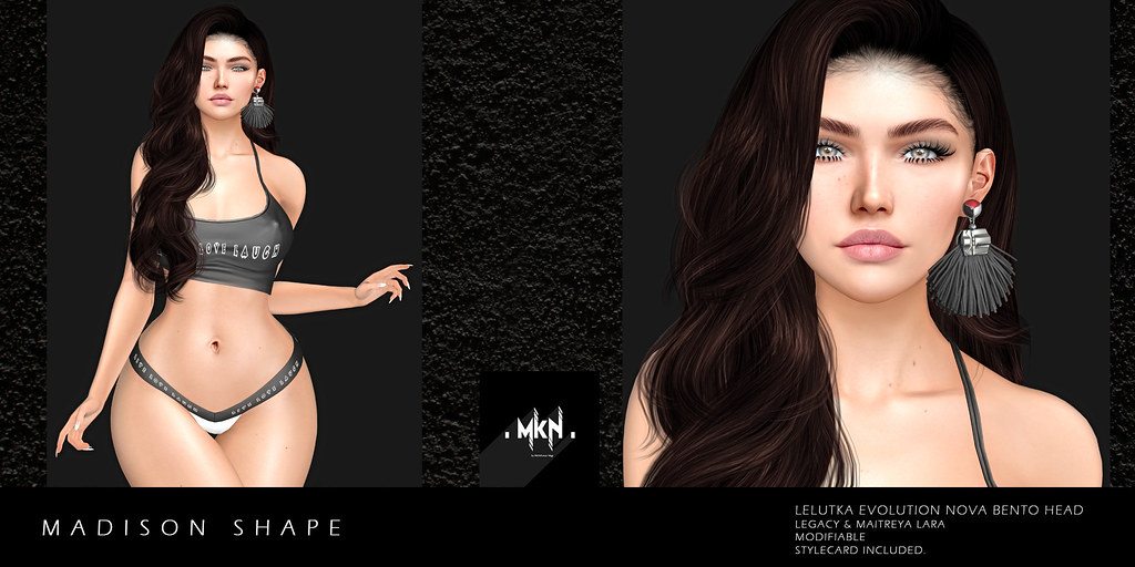 . MKN . Madison Shape (Lelutka Evolution Nova/Legacy/Maitreya) Exclusive at Swank, March 2020