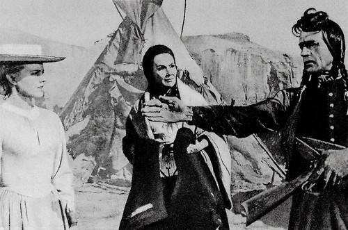 Carroll Baker, Dolores Del Rio, and Ricardo Montalban in Cheyenne Autumn (1964)
