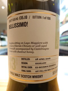 SMWS 135.18 - Bellissimo!
