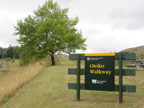 outdoor walking rural walkway otoko hill tree sign tekaraka gisborne newzealand