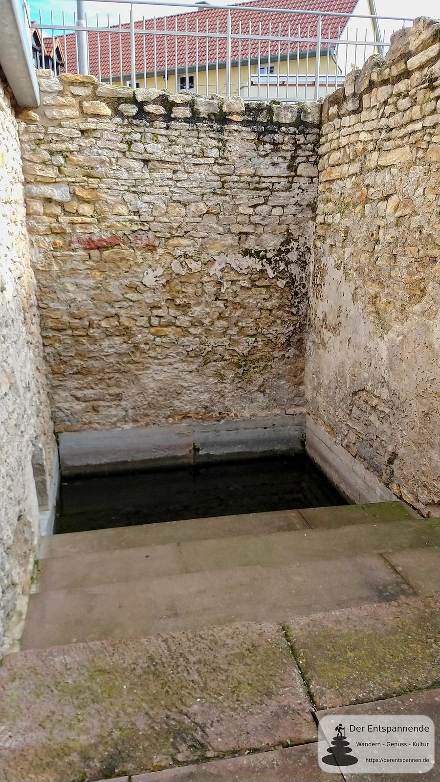 Wasserbassin, Fernwasserleitung (Kaiserpfalz Ingelheim)