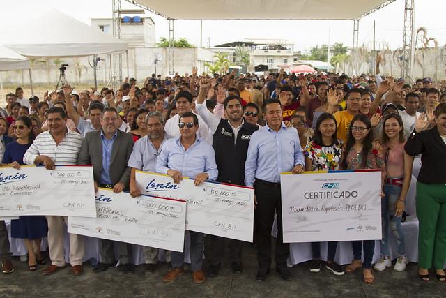 Entrega de créditos de CFN para proyectos de El Oro (Santa Rosa)