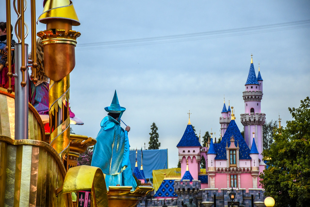 Sleeping Beauty float castle Magic Happens DL