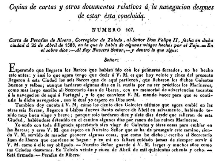 """""""Memoria que tiene por objeto manifestar la posibilidad y facilidad de hacer navegable el río Tajo desde Aranjuez hasta el Atlántico""""</a> de Francisco Javier de Cabanes en 1829 (1)"""