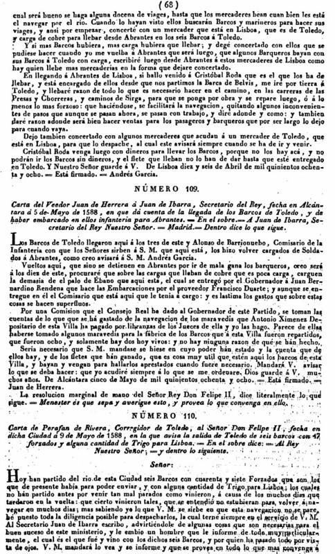 """""""Memoria que tiene por objeto manifestar la posibilidad y facilidad de hacer navegable el río Tajo desde Aranjuez hasta el Atlántico""""</a> de Francisco Javier de Cabanes en 1829 (3)"""