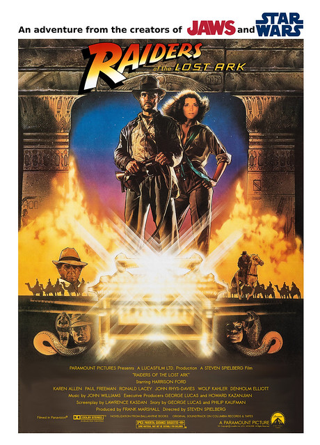 Raiders of the Lost Ark custom movie poster style B FINAL(1)