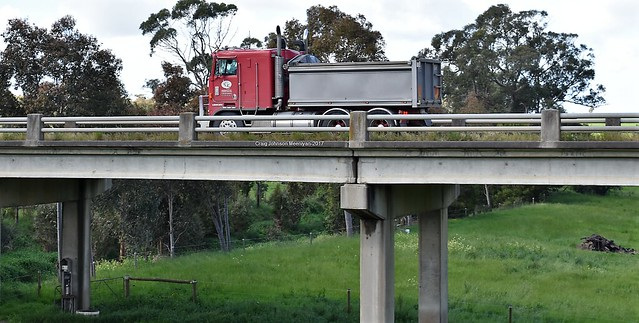 Leongatha Garden Supplies Kenworth over the Tarwin at Meeniyan