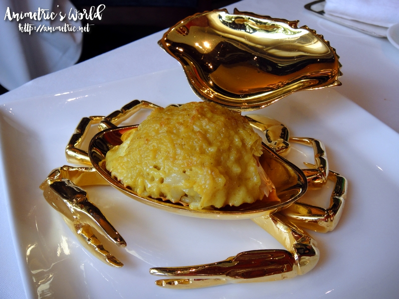 Fried Rice with Tasmanian Crabmeat stuffed in Whole Crab Shell